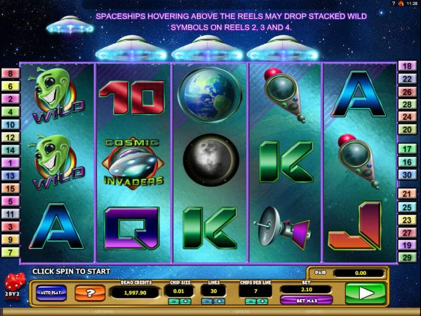 Online free slot game Cosmic Invaders