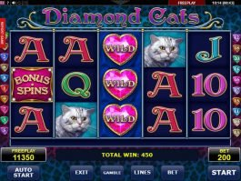 No deposit game Diamond Cats online