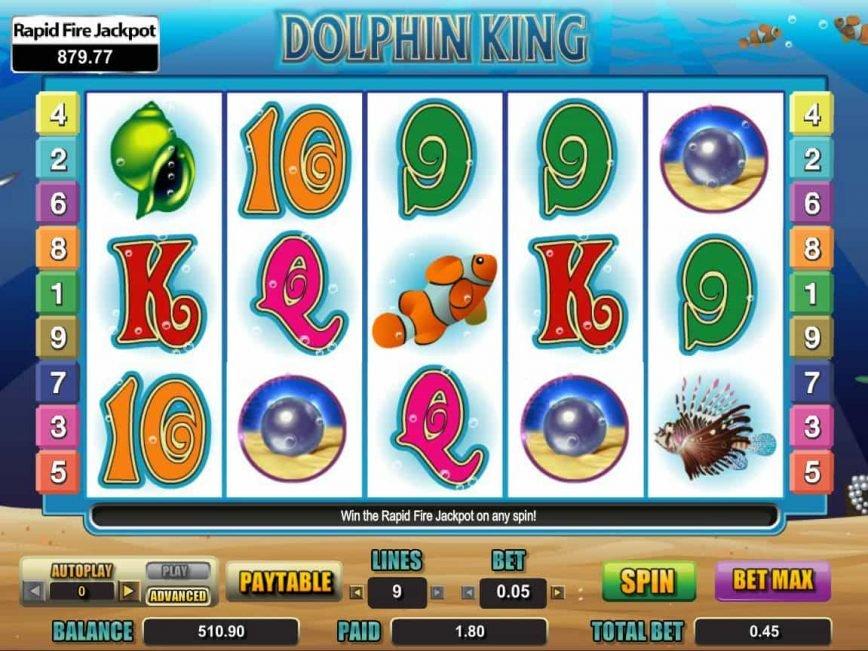 Casino slot machine Dolphin King