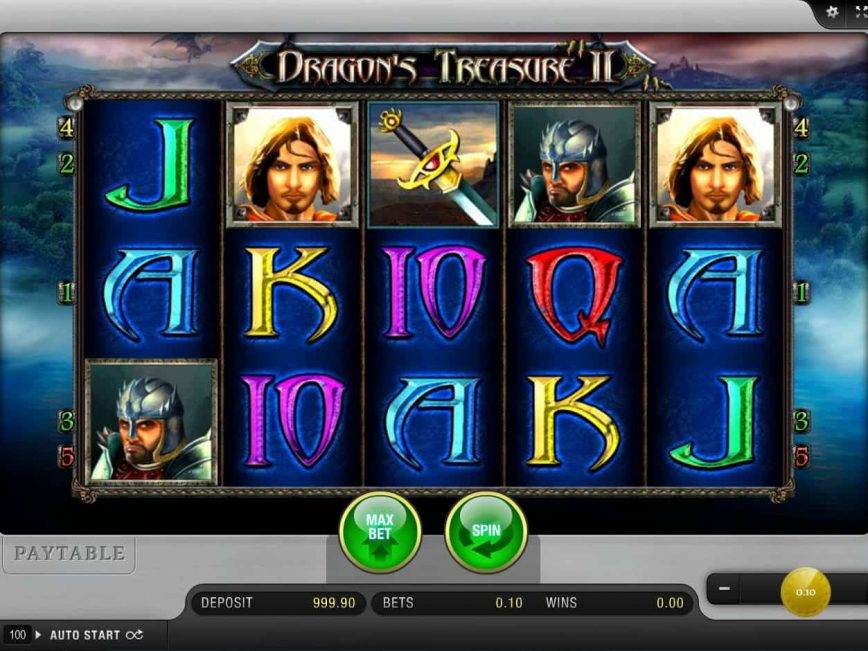 Dragon's Treasure II slot no deposit