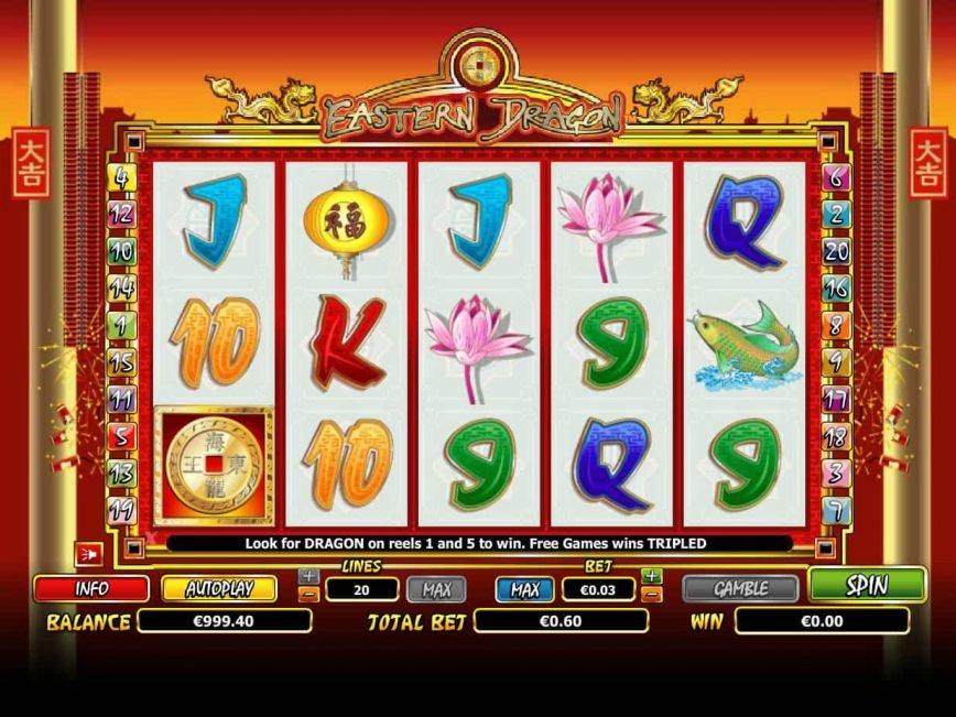Casino slot machine Eastern Dragon no deposit