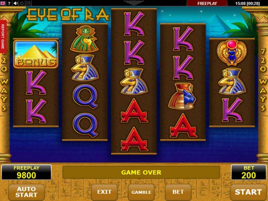 Online casino game Eye of Ra
