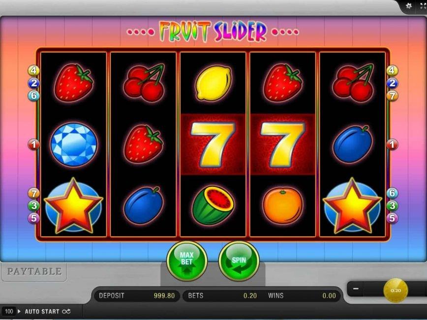 Spin slot machine Fruit Slider online