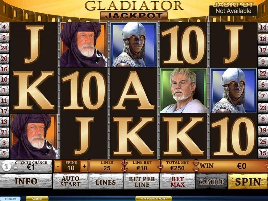 Fight for a progressive jackpot in gladiator jackpot slot free