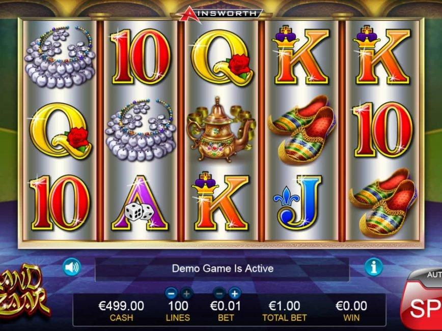 Spin slot game Grand Bazaar online