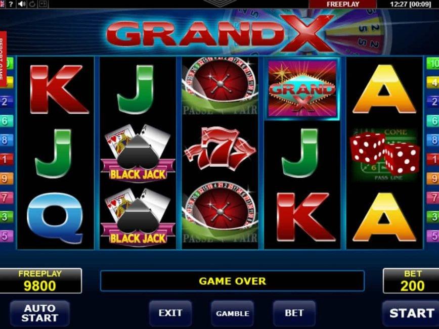 Casino free slot Grand X no deposit