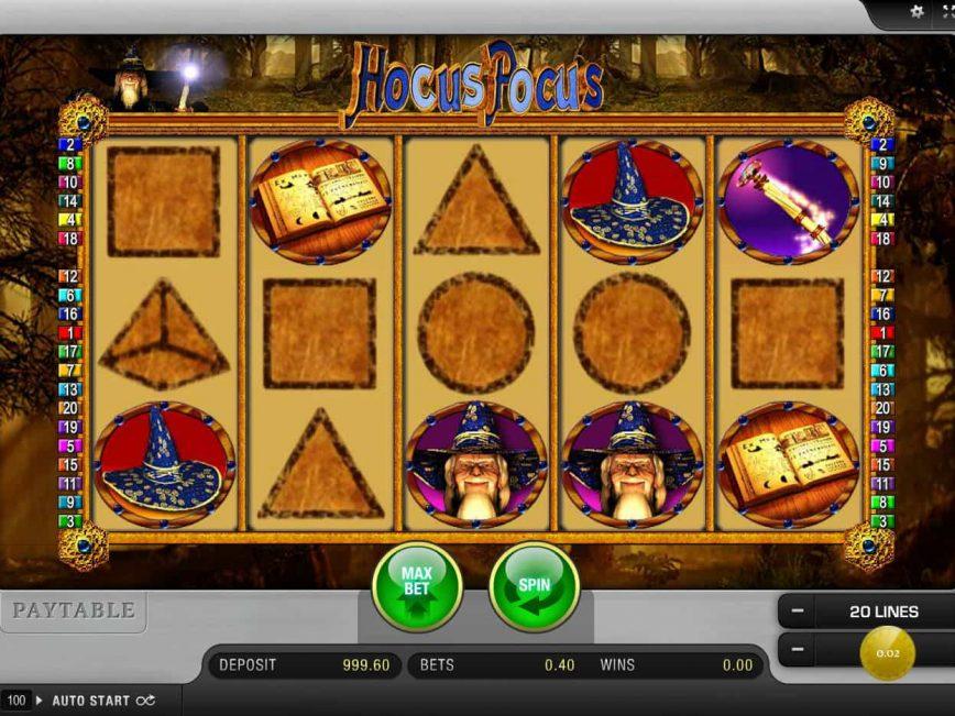 Online free slot Hocus Pocus no deposit
