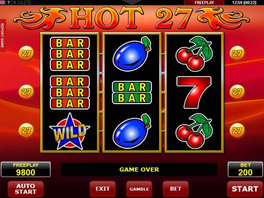 Spin casino game Hot 27 free online
