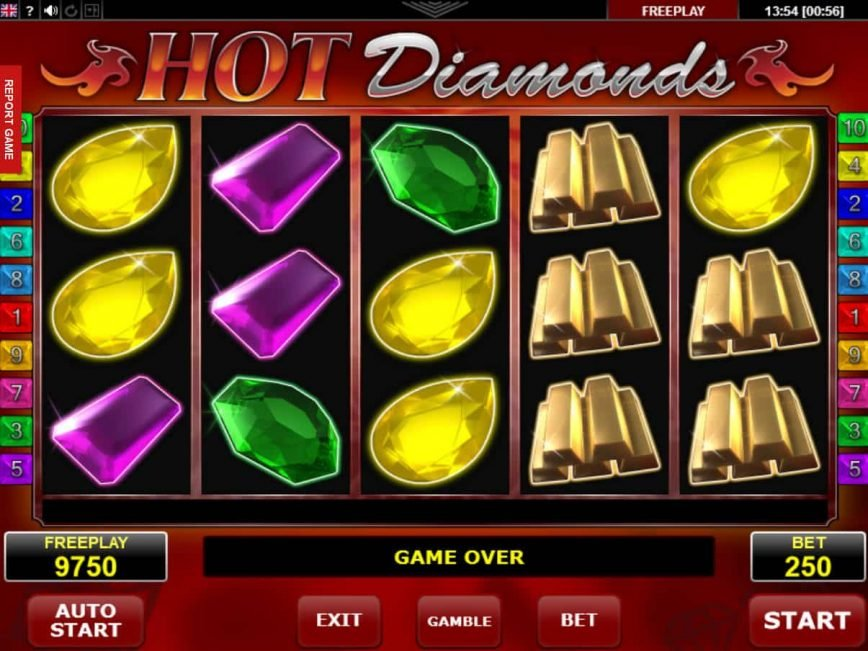 Picture from casino game Hot Diamonds online