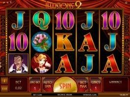 Casino slot machine Illusions 2