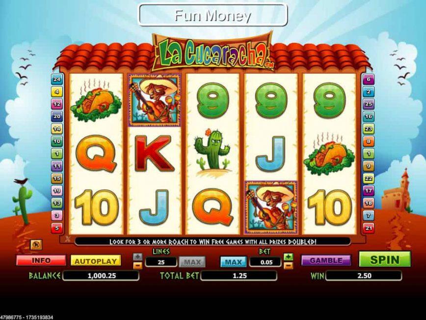 La Cucaracha online slot machino for free