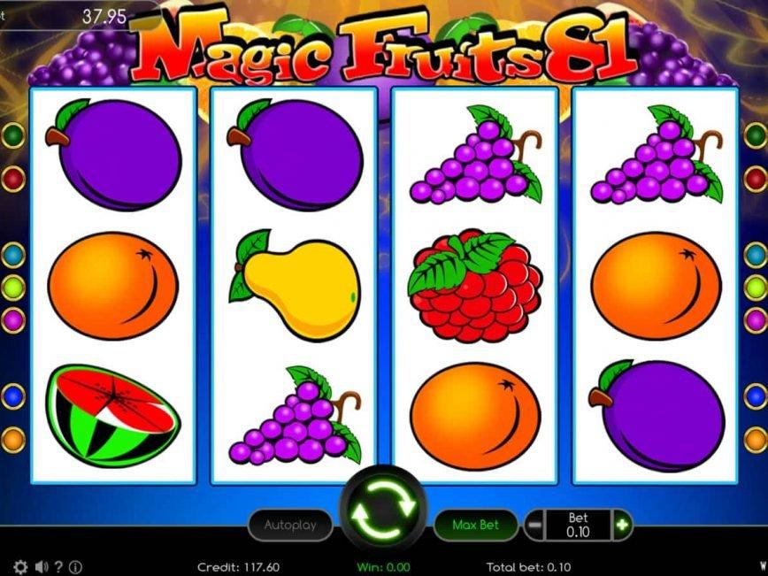 Play free slot game Magic Fruits 81 online
