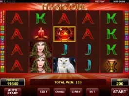 Casino slot machine Magic Owl no deposit