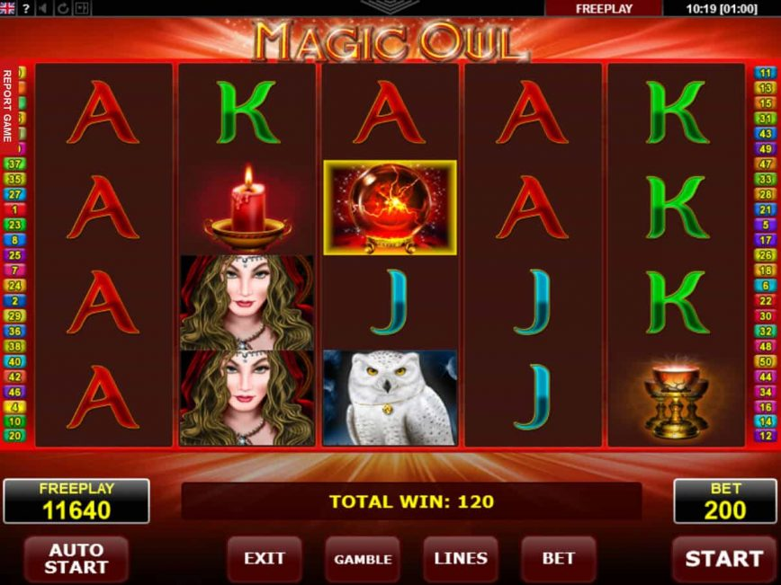 Casino slot machine Magic Owl no deposit