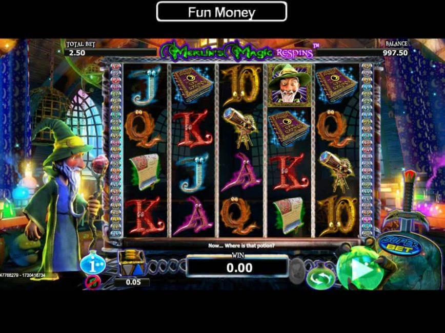 Casino free slot Merlin's Magic Respins