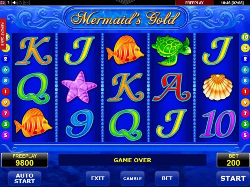 Casino online game Mermaid's Gold