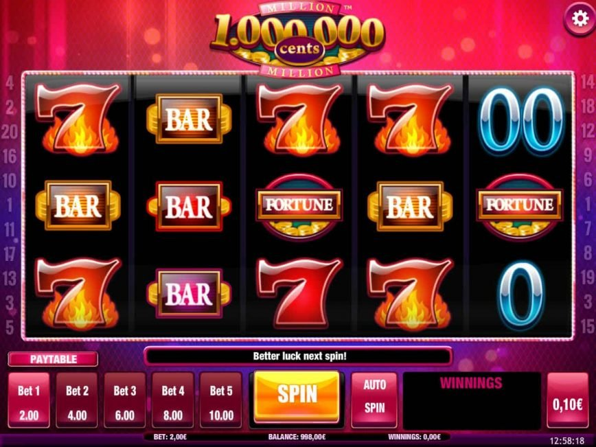Spin online free slot Million Cents HD