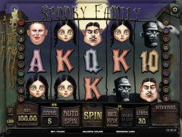 Casino slot machine Spooky Family online for free