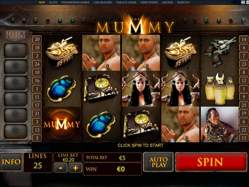 Picture from casino game The Mummy