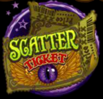 Scatter symbol from online slot game The Twisted Circus