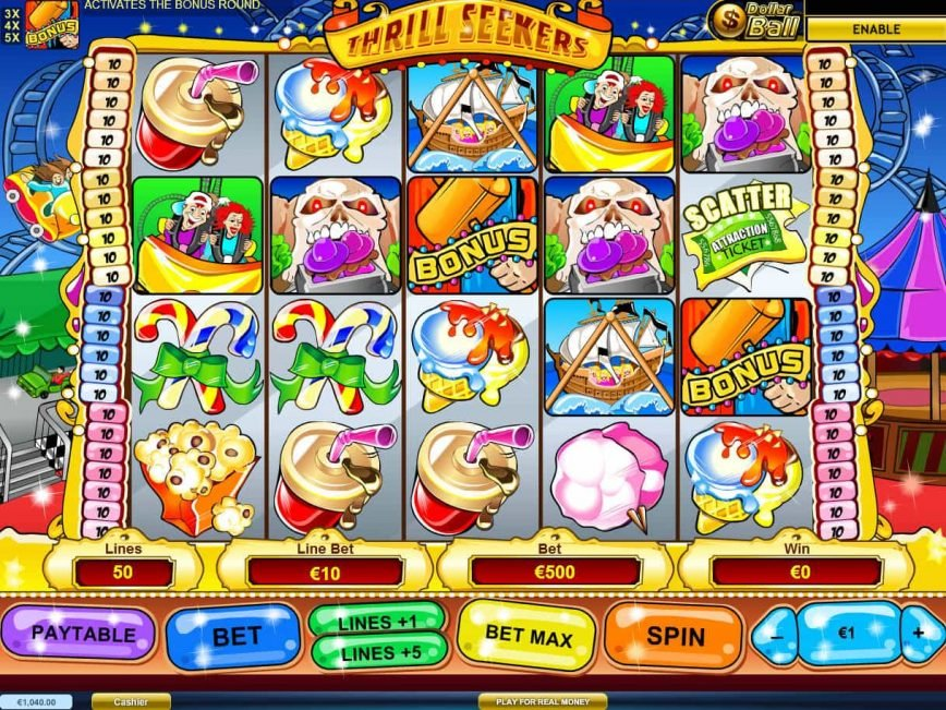 Spin casino slot game Thrill Seekers no deposit