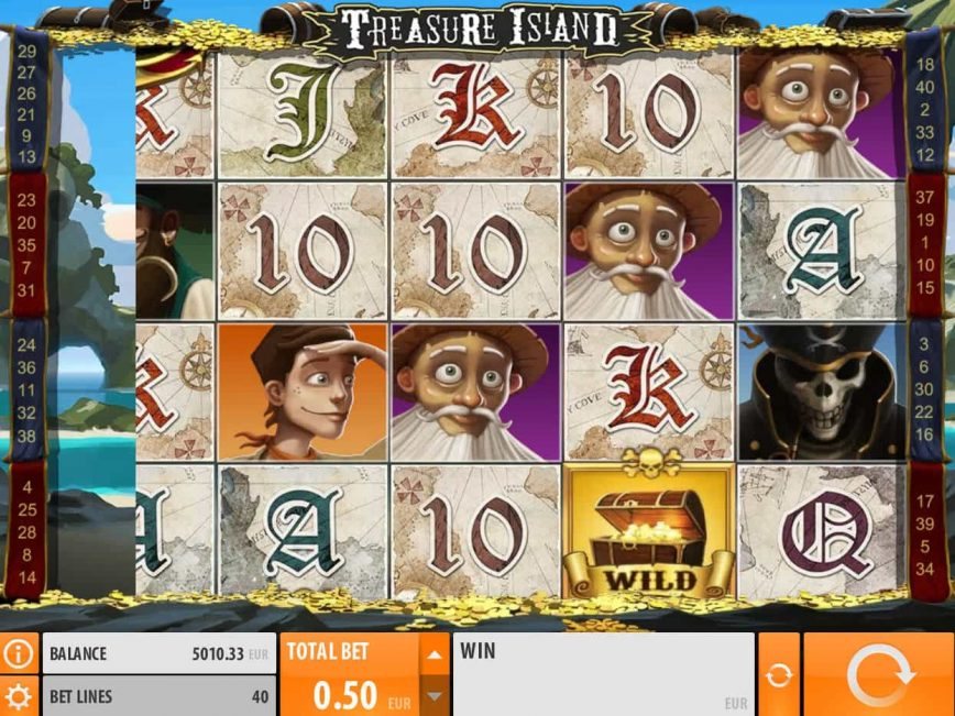 Online slot game Treasure Island