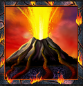 Special symbol from online free slot Volcano Eruption