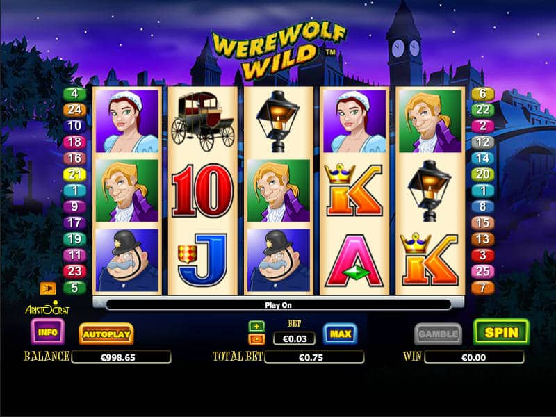 Play The Werewolf Wild Slots With No Download Here