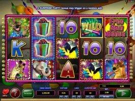 Spin online slot game Wild Birthday Blast