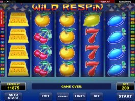 Online slot machine Wild Respin no deposit
