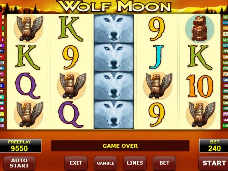 Play casino game Wolf Moon online