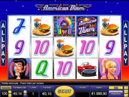 American Diner online slot by Novomatic
