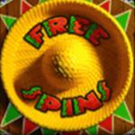 Symbol darmowych spinów z Amigos Fiesta
