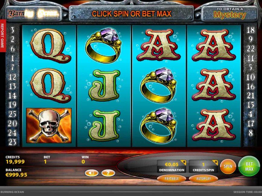 Slot machine Burning Ocean for free