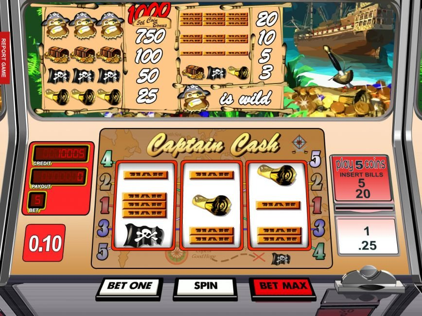 Captain Cash online slot by Betsoft