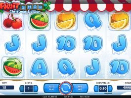 Online slot game Fruit Shop: Christmas Edition