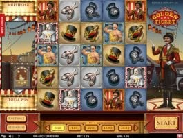 Picture from slot machine Golden Ticket online