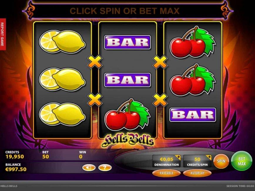 Spin casino slot machine Hells Bells online