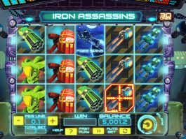 Casino slot Iron Assassins by Spinomenal