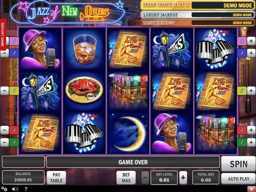 Play free slot machine Jazz of New Orleans