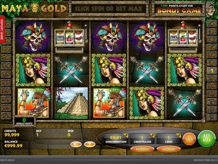 Spin casino game Maya Gold