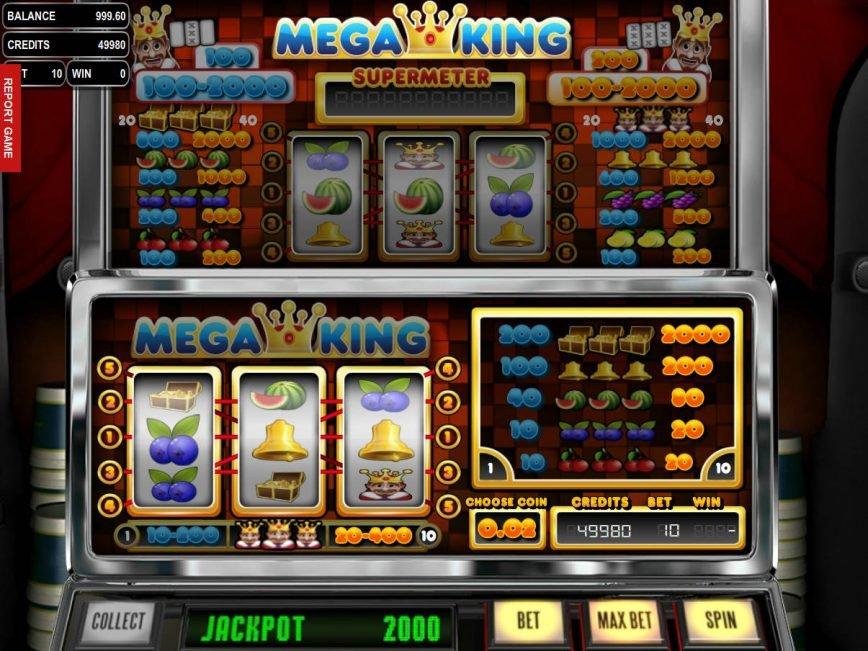 Free casino game Mega King for fun
