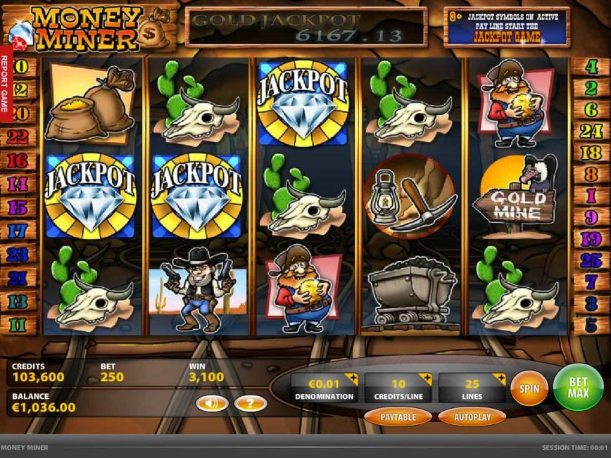 Play free casino game Money Miner no deposit
