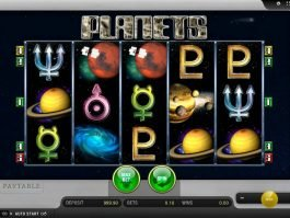 Online casino game Planets by Merkur