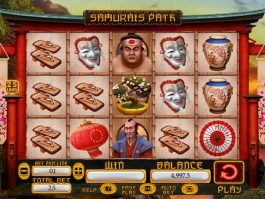 Casino slot machine Samurai's Path no deposit