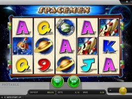 Casino slot game Spacemen for fun