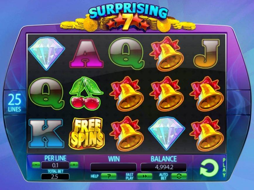 No deposit game Surprising 7 online