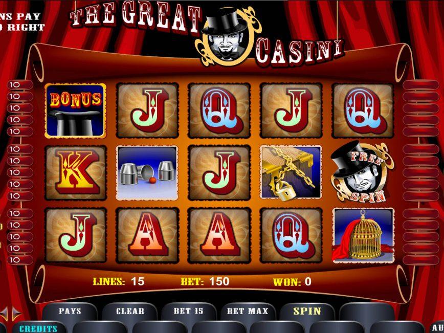 Play free slot machine The Great Casini