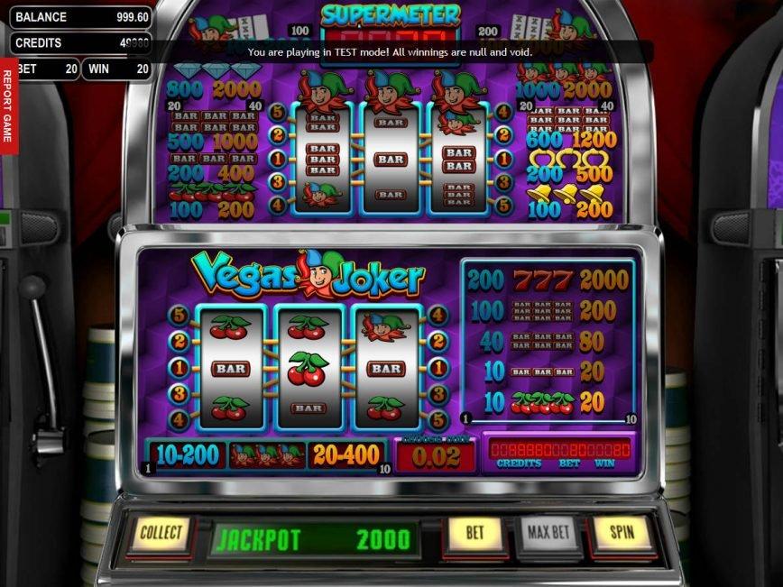 Picture from casino game Vegas Joker online