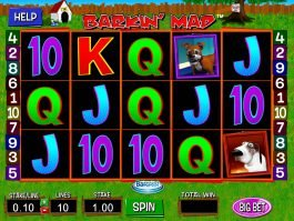 Picture from slot machine Barkin' Mad online